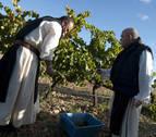 La vendimia de los monjes en el Monasterio de la Oliva