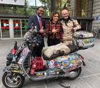 La vespa solidaria vuelve a rodar: 10.000 kilómetros entre Pamplona y Dakar