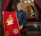 Carmen Goldáraz, bordadora de los paños para San Fermín