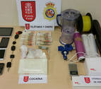 Arrestado en Madrid con un kilo y medio de cocaína cuyo destino era Pamplona