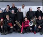La peña Alegría de Iruña recoge 3.500 kilos en la 'Operación Patata'