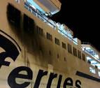 Un ferry de la ruta Marsella-Argel se desvía y atraca en Mallorca a causa de un incendio