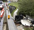 Fallecen dos franceses en un accidente en la N-121-A a la altura de Irún