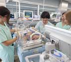 Uno de cada diez niños que nacen en Navarra es prematuro