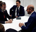 Rajoy se reúne con el primer ministro belga antes de la comparecencia de Puigdemont