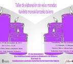 Taller para fabricar velas moradas en protesta contra la violencia de género