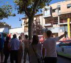 Hallan en un árbol una mano del muerto en una explosión en Tudela en agosto de 2016