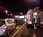 Dos heridos en un accidente de tráfico en la PA-30 a la altura de Olloki