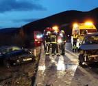 Tres heridos en la AP-15 en Unzué en un accidente tras saltarse un coche la mediana