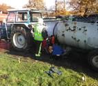 Fallece al quedar atrapado por un eje de su tractor en Alsasua