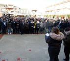 Familia, amigos y vecinos homenajean al joven de Caparroso hallado muerto