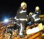 Sofocan un incendio en una vivienda de Mendioroz