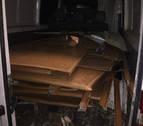 Interceptada una furgoneta con varios kilos de aluminio robado en Cuatro Vientos