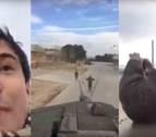 Expedientan a varios militares por dejar grabar el vídeo a civiles en un tanque
