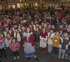 300 niños preservan el canto más navideño en el festival de villancicos de Estella