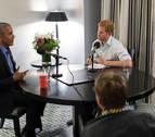 El príncipe Enrique entrevista a Barack Obama para un programa de radio de la BBC