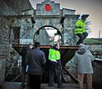 El jueves se probará el engranaje del puente del portal de Francia para Reyes