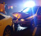 Un conductor que cuadruplica la tasa de alcohol choca y causa dos heridos en Zizur