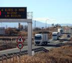 Tudela se queja a Alba de los atascos por el desvío de camiones de la A-68 a la AP-15
