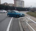 Dos heridos tras chocar sus vehículos en la plaza Europa de Pamplona