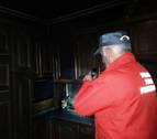 Evacuado al CHN por intoxicación leve tras un incendio en su cocina en Irurita