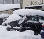 La nieve deja casi 50 centímetros de espesor en el norte de Navarra