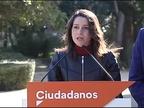 Arrimadas urge al Gobierno a recurrir ante el TC para evitar la investidura de Puigdemont