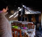 Afectados por el incendio en Tafalla: