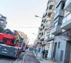 Un incendio calcina parte de una vivienda en Tudela