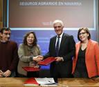Navarra asumirá la bajada de aportación estatal en los seguros agrarios
