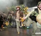 Los dinosaurios reviven en Pamplona en un espectáculo familiar en el Gayarre