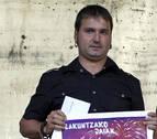 Jokin Alegría recibirá el gorro de honor de la tamborrada de Lakuntza