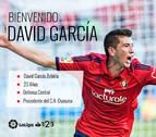 David García no jugará en El Sadar