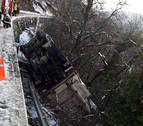 Tres accidentes de camión en Navarra... en siete minutos
