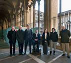 Las obras de restauración del claustro de la Catedral de Pamplona llegan a su ecuador