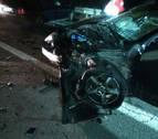 Dos heridos en un accidente de tráfico en la NA-127 a la altura de Sangüesa
