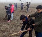 Los escolares de Funes conocen la actuación de restauración fluvial