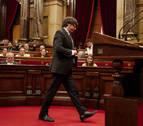 El Constitucional anula el acuerdo que permitió tramitar la ley del referéndum