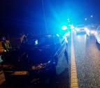 Cuatro heridos leves en una colisión por alcance en Noáin