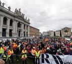 Grandes manifestaciones en Italia una semana antes de las elecciones