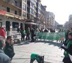 La PAH se concentra en Pamplona para exigir que se apruebe su ley de vivienda