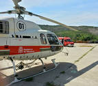 Evacuado en helicóptero al herirse la pierna con una radial