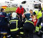 Fallece el trabajador de Lakuntza herido al caerle una placa encima