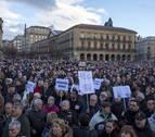 Manifestantes en Navarra: