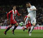 Benzema renace y Cristiano golpea en el partido del Real Madrid contra el Girona