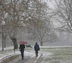 El invierno se despide en Navarra con cierzo, frío y nieve