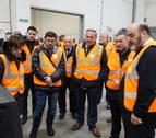 La planta de reciclaje de Aspace inaugura en Aoiz sus nuevas instalaciones