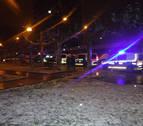 Desalojados varios pisos de la calle Bardenas Reales por un incendio en un felpudo