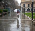 Domingo de lluvia y ligero descenso de temperaturas en Navarra