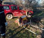 Herido grave un agricultor en Murchante al tener un accidente con un motocultor